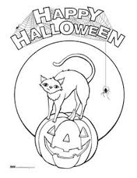 Small Picture Halloween coloring pages Cat on Broom coloring pages