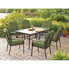 outdoor dining sets for 6. Unique Dining Outdoor Dining Set For 6 Mainstays Crossman 7 Piece Patio Set  Green Seats Throughout Sets R