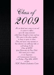 Sample Graduation Announcement Sample Of Graduation