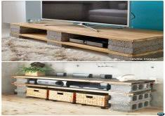 concrete block furniture. Delightful Concrete Block Furniture DIY Cinder TV Stand Console 10 Projects