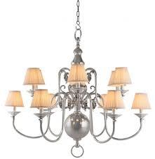 Casa Padrino Luxus Kronleuchter Nickel Finish 12 Armig Barock Restaurant Hotel Lampe Leuchte Austauschbare Lampenschirme
