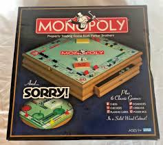 upc 076930415962 product image for rare 2003 wooden box monopoly clue game 6 other