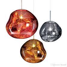 modern tom dixon melt pendant lights glass lava irregular hanging lamp chandeliers for living room lamp restaurant coffee bar home lighting double pendant