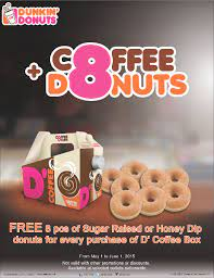 Dunkin' donuts menu prices are based on the idea that donuts should be purchased in 1/2 dozen or dozen packs. Dunkin Philippines On Twitter Midweek Sugar Cravings Bring With You A Couple Of Infinite Happiness With D S Coffee Box And Free Donuts Http T Co Hikskntzij
