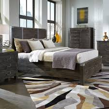 Magnussen Harrison Bedroom Furniture Abington Wood Panel Bed In Weathered Charcoal By Magnussen Home