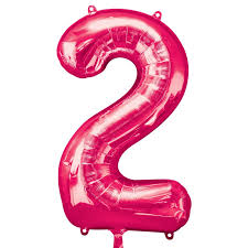 large pink shape balloon no 2 delivered inflated in uk