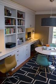 built in home office. move the builtins to right side and leave both left middle tops for working space this is beautiful functional has desk space u2026 built in home office