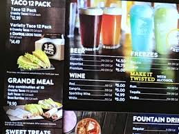 taco bell menu drinks. Unique Bell The Menu Is Long And Taco Bell Menu Drinks