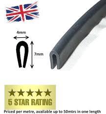 glass edge trim soft flexible door glass rubber weatherstrip u channel seal strip edge trim for glass edge trim