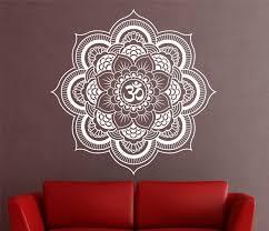 zoom on mandala wall art with mandala wall decal sticker yoga om namaste yoga decor wall