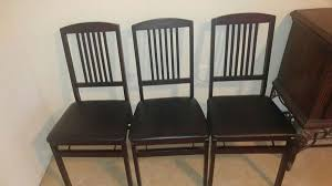 dark mahogany furniture. 6 Cosco Bridgeport Collection Wood Folding Chairs With Vinyl Seat And Mission Style Back - Dark Mahogany (Furniture) In Georgetown, TX Furniture C