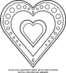 heart color pages. Simple Color Valentineu0027s Heart Heart Coloring Page On Color Pages Crayola
