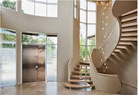 classic staircase design: curved stairs design with decorative elements