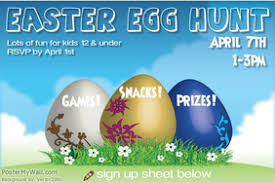 easter egg hunt template easter poster templates postermywall
