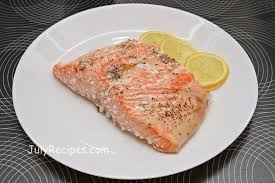 cooked salmon fillet.  Salmon Category Main Course On Cooked Salmon Fillet T
