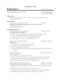 biology resume examples cv biology cv