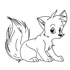 Small Picture Baby Fox Coloring Pages Draw Background Baby Fox Coloring Pages