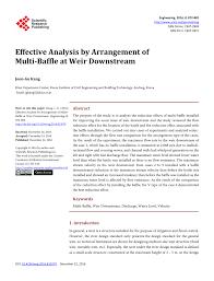 Irrigation Weir Design Pdf Effective Analysis By Arrangement Of Multi Baffle At