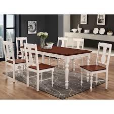 turned leg dining table. Walker Edison Furniture Co. 60-inch Solid Wood Turned Leg Dining Table - Brown