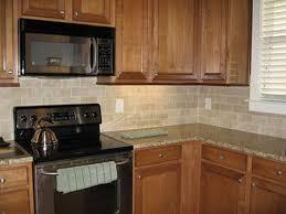 Kitchen. Simple Griffin Ceramic Tiles For Kitchen Backsplash With Solid Oak  Kitchen Cabinet Set With