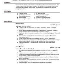 Security Officer Resume Examples Best Security Officer Resume Example Livecareer Inside Sample 9