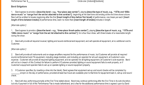 Document Template : Examples Performance Agreement Template Artist ...