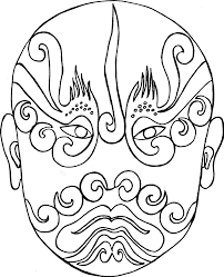 Coloriage Masques Chinois L