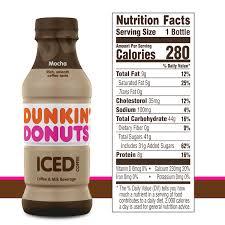 Box o' joe® coffee dunkin' decaf: Dunkin Donuts Mocha Iced Coffee Bottle 13 7 Fl Oz Walmart Com Walmart Com
