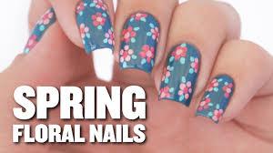 Easy Floral Nail Designs Easy Spring Floral Nail Art Design