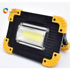 Đèn LED dã ngoại siêu sáng 20W Pin sạc 18650 USB - Chống nước, Di động,  cổng sạc USB