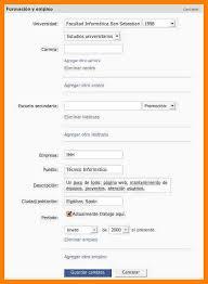 Curriculum Vitae Para Rellenar Formato Word Completar Y Descargar