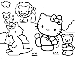 Hello kitty coloring pages for kids. Coloring Pages Of Hello Kitty And Friends Coloring Home