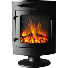 1500w freestanding electric fireplace with log display cam20fsef 1blk