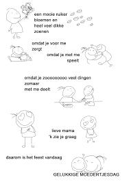 25 Printen Moederdag Gedichtjes Peuters Mandala Kleurplaat Voor