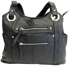 roma leathers leather locking concealment purse ccw concealed carry shoulder bag black com