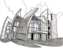 modern architecture sketch. Architecture Drawings Modern Sketch