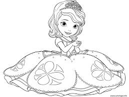 Coloriage Princesse Sofia Dessin