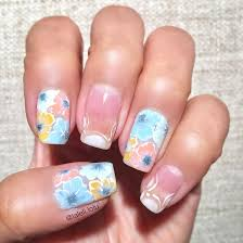 Long time not posting nail art. This is my Spring nail art ...
