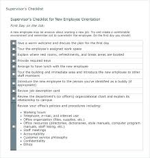 Sample Orientation Checklist For New Employee New Employee Orientation Template Build Checklist Template