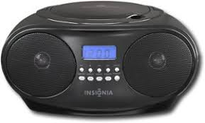 boomboxes best buy insignia cd boombox black front standard