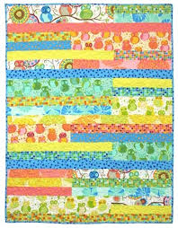 Simple strips free easy quilt pattern Della Flannel by Valori ... & Simple strips free easy quilt pattern Della Flannel by Valori Wells 37 1/2