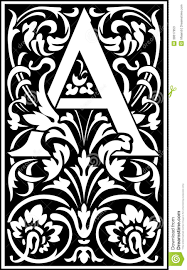 Decorative Letters Aldus Royal Font Alphabet A Decorative Letter Spectrum Scroll