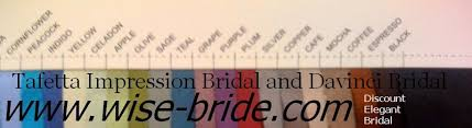 Impression Bridal Color Chart Davinci And Impression Bridesmaid Color Swatches