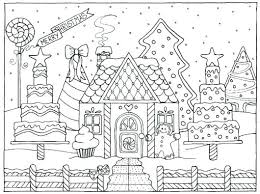 Gingerbread Houses Coloring Pages Coloring Pages Of Gingerbread