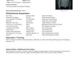 beginners resume template child acting resume sample bitacorita