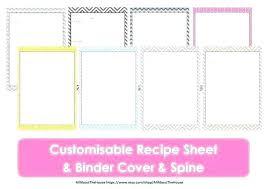 Cookbook Format Template Cookbook Format Template Recipe Book Free Word Printable Card A4