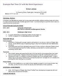 High School Student Resume First Job Curriculum Vitae Template High School Student Sample Job Resume For