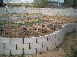joyous cinder block retaining wall construction