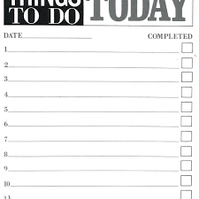 To Do List Template Pdf To Do List Printable Vacation Packing List