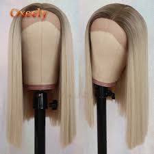<b>Oxeely</b> BOB Synthetic <b>Hair</b> Lace Wigs <b>Short Hair</b> Straight Lace Front ...